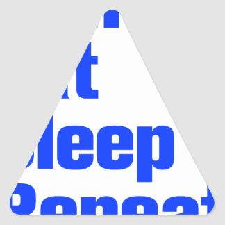 run-eat-sleep-repeat-ak-blue.png triangle stickers
