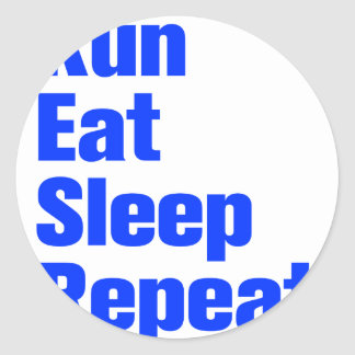run-eat-sleep-repeat-ak-blue png round stickers