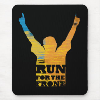 Run For the Front: Watercolor Mouse Mat