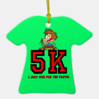 run for the pasta 5K Christmas Ornament
