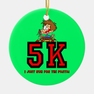 run for the pasta 5K Christmas Tree Ornaments