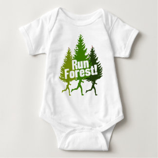 Run Forest, Protect the Earth Day Baby Bodysuit