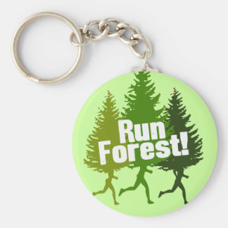 Run Forest, Protect the Earth Day Key Ring
