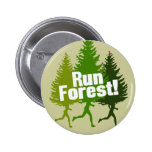 Run Forest, Protect the Earth Day Pinback Button