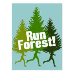 Run Forest, Protect the Earth Day Postcard