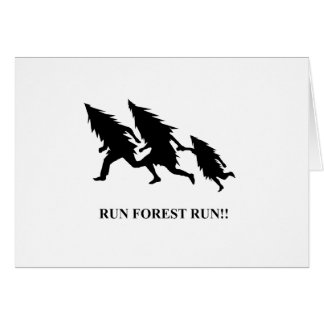 Run Forest Run Card