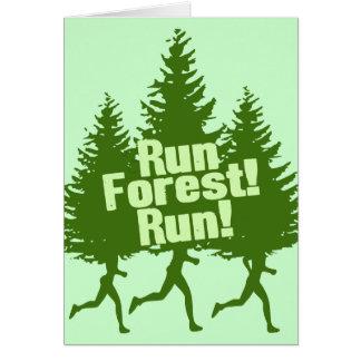 Run Forest Run Card
