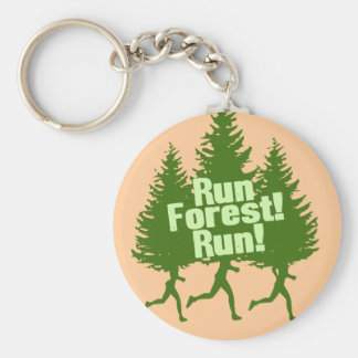 Run Forest Run Basic Round Button Key Ring