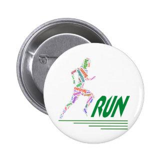 Run girl, run 6 cm round badge