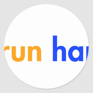 run-happy-cat-blue png round stickers