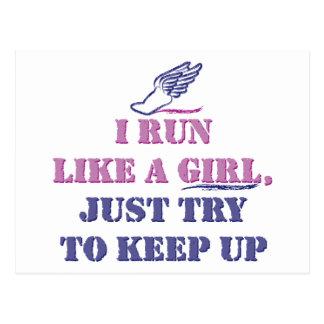 Run Like a Girl Post Cards