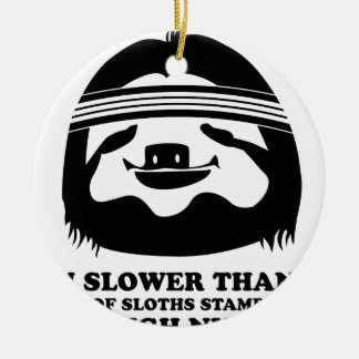Run Like A Sloth Christmas Ornament