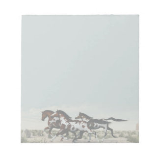 Run Like the Wind - Galloping Paint Horses Notepad