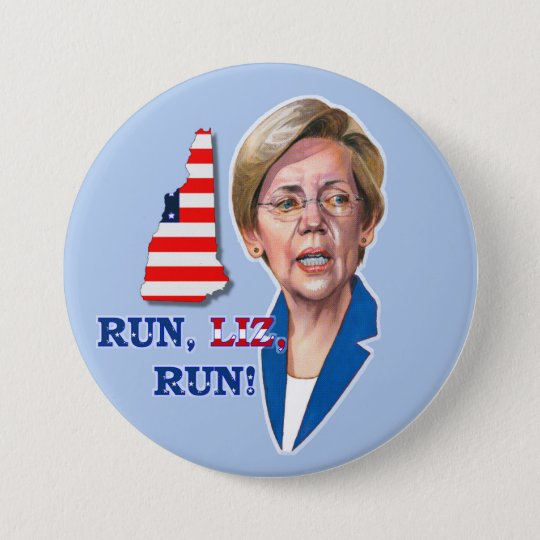 Run, Liz, Run! 7.5 Cm Round Badge
