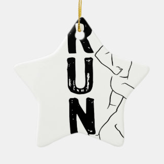 RUN Man Ceramic Star Decoration