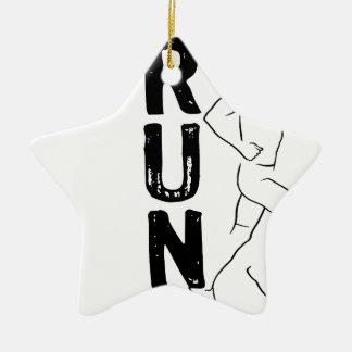 RUN Man Ceramic Star Decoration