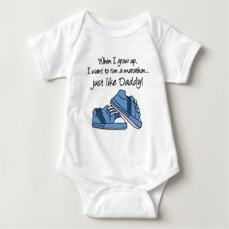 Run Marathon Just Like Daddy Baby Bodysuit