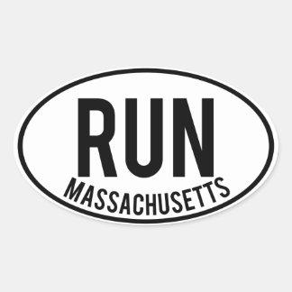 RUN massachusetts Oval Sticker