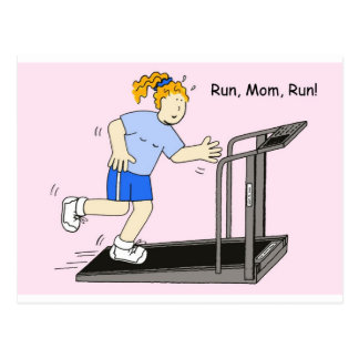 Run, Mom, Run Postcard