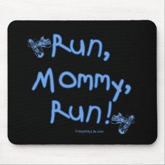Run Mommy Run - Blue Mouse Mat