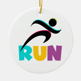 RUN Multi Christmas Ornament