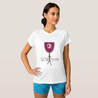 Run Now Wine Later Participant Athletic V-Neck Tee