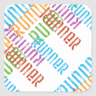 Run Off Variety - Colourful Running Square Sticker
