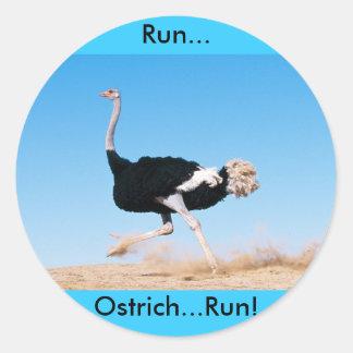 Run Ostrich Run Sticker