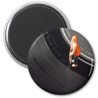 Run Out Groove Refrigerator Magnet