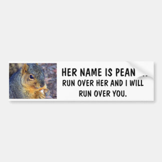 RUN OVER MY SQUIRREL AND I'LL RUN OVER YOU BUMPER STICKER