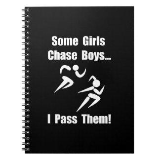Run Pass Boys Spiral Notebook