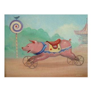 Run Piggy Run ! Postcard
