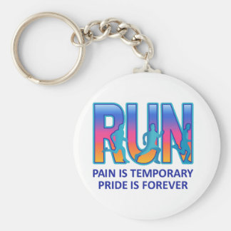 RUN PRIDE IS FOREVER BASIC ROUND BUTTON KEY RING