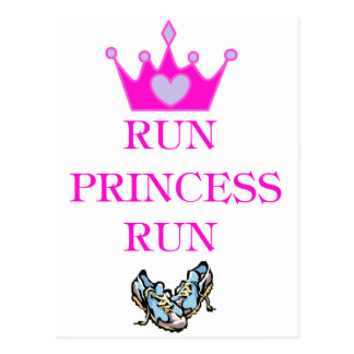 Run Princess Run Postcard