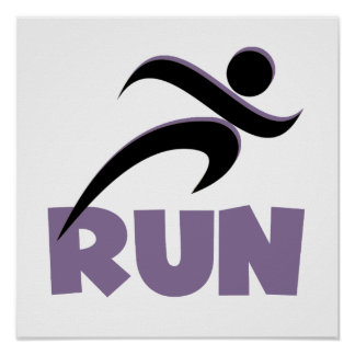 RUN Purple Poster