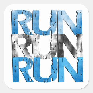 Run Run Run Square Sticker