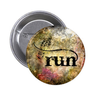 Run/Runner by Vetro Jewelry 6 Cm Round Badge