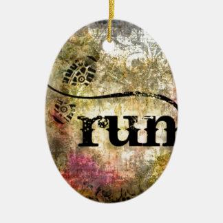 Run/Runner by Vetro Jewelry Christmas Ornament