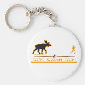 Run Sarah Run! Basic Round Button Key Ring