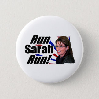 Run Sarah Run! Sarah Palin 6 Cm Round Badge