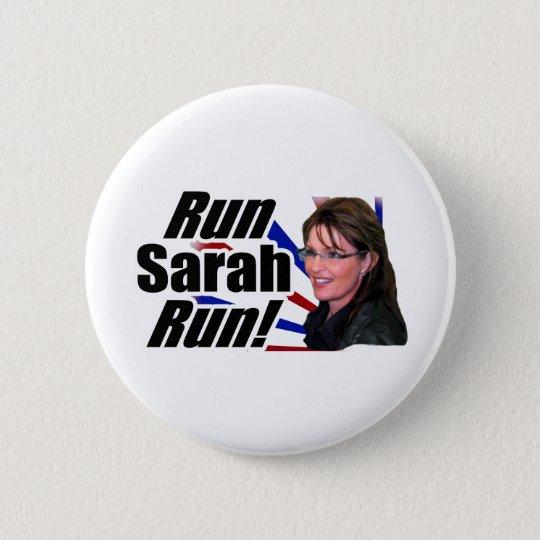 Run Sarah Run! Sarah Palin 6 Cm Round Badge