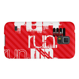 Run; Scarlet Red Stripes Case For Galaxy S5