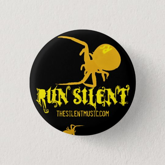 Run Silent Arachnida Logo Button - Customised