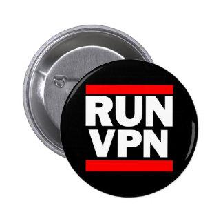 Run VPN 6 Cm Round Badge