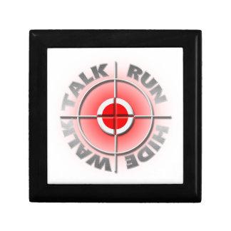 Run walk talk hide. gift box