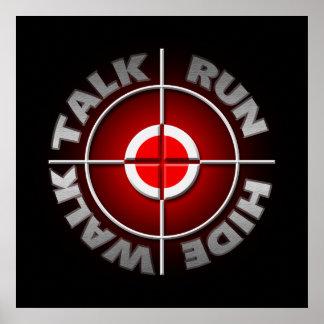 Run walk talk hide. poster