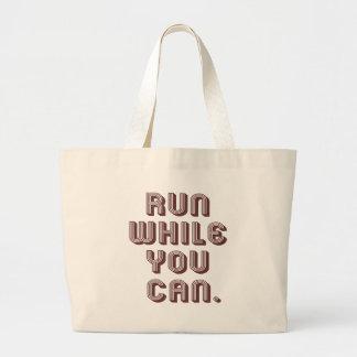 Run While You Can Jumbo Tote Bag