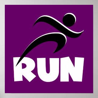 RUN White Poster
