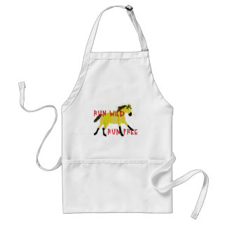 RUN WILD RUN FREE- Whimsical Horse Collection Standard Apron
