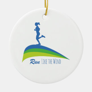 Run Wind Christmas Ornament